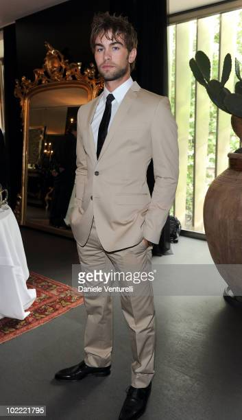 Actor Chace Crawford attends the Dolce Gabbana VIP Room prior to the Dolce Gabbana Milan Menswear Spring/Summer 2011 show on June 19 2010 in Milan...