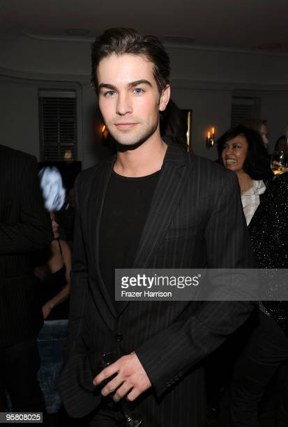 Actor Chace Crawford attends the Golden Globes party hosted by T Magazine and Dom Perignon at Chateau Marmont on January 15 2010 in Los Angeles...