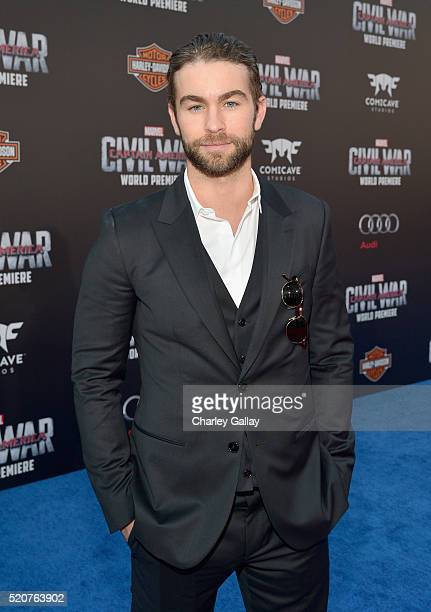 Actor Chace Crawford attends The World Premiere of Marvel's Captain America Civil War at Dolby Theatre on April 12 2016 in Los Angeles California