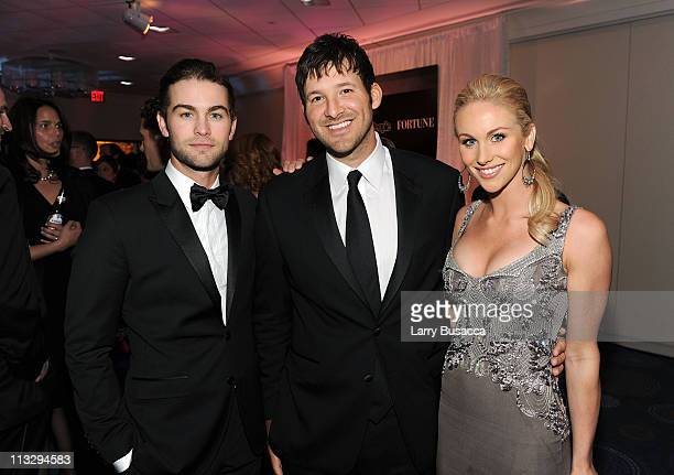 Actor Chace Crawford NFL player Tony Romo and Candice Crawford attend the TIME/CNN/People/Fortune White House Correspondents' dinner cocktail party...