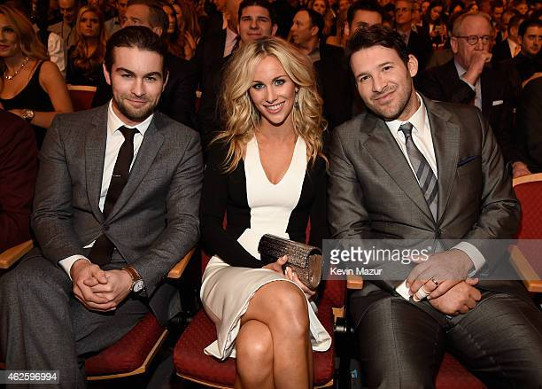 Actor Chace Crawford reporter Candice Crawford and NFL player Tony Romo attend the 4th Annual NFL Honors at Phoenix Convention Center on January 31...