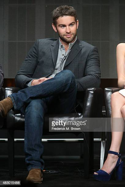 Actor Chace Crawford speaks onstage during the 'Blood Oil' panel discussion at the ABC Entertainment portion of the 2015 Summer TCA Tour at The...