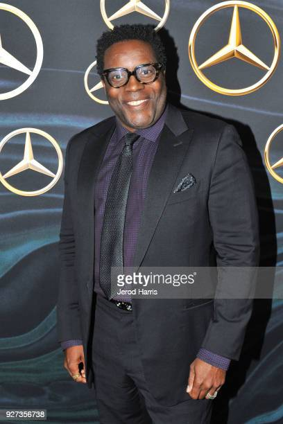 Actor Chad Coleman arrives at MercedezBenz USA's Official Awards Viewing Party at Four Seasons Hotel on March 4 2018 in Beverly Hills California