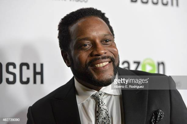 Actor Chad Coleman arrives for the red carpet premiere screening for Amazon's first original drama series 'Bosch' at The Dome at Arclight Hollywood...