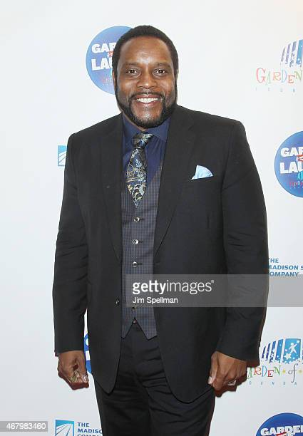 Actor Chad Coleman attends the 2015 Garden Of Laughs Comedy Benefit at the Club Bar and Grill at Madison Square Garden on March 28 2015 in New York...