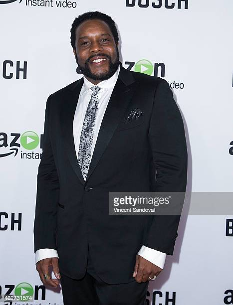 """Actor Chad Coleman attends the """"Bosch"""" premiere screening at The Dome at Arclight Hollywood on February 3, 2015 in Hollywood, California."""