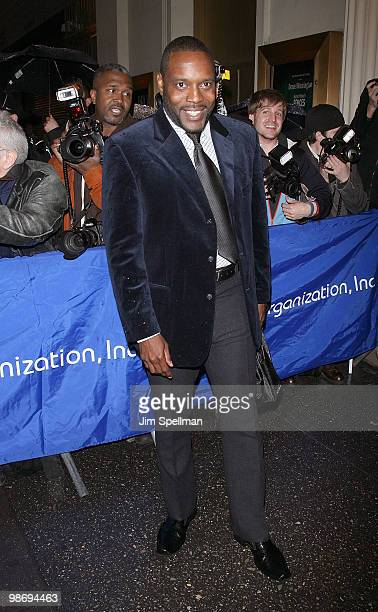 """Actor Chad Coleman attends the opening night of """"Fences"""" on Broadway at the Cort Theatre on April 26, 2010 in New York City."""