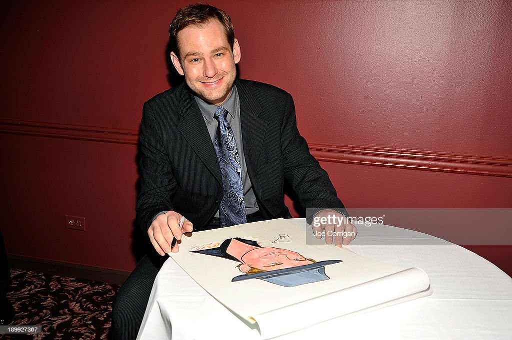 Actor Chad Kimball attends the caricature unveiling for Broadway's 'Memphis' stars Montego Glover and Chad Kimball at Sardi's on March 10, 2011 in New York City.
