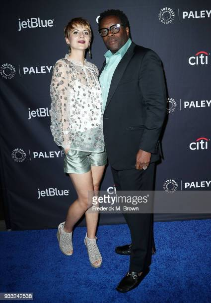 """Actor Chad L. Coleman and his wife Noemi Buttinger of the television show """"The Orville"""" attend The Paley Center for Media's 35th Annual Paleyfest Los..."""