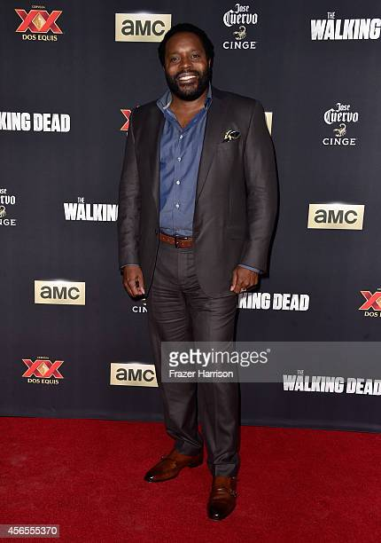 Actor Chad L Coleman attends the season 5 premiere of 'The Walking Dead' at AMC Universal City Walk on October 2 2014 in Universal City California