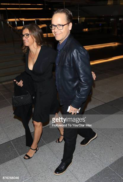 Actor Chad Lowe and Kim Painter are seen on November 18 2017 in Los Angeles CA