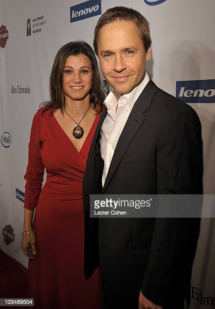 Actor Chad Lowe and Kim Painter arrives at Hollywood Entertainment Museum Honors The Cast Of Heroes held at the Esquire House on November 1 2008 in...