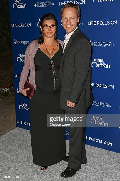 Actor Chad Lowe and wife Kim Painter arrive at the Life Rolls On foundation's 9th annual Night by the Ocean gala at Ritz Carlton Hotel on November 10...