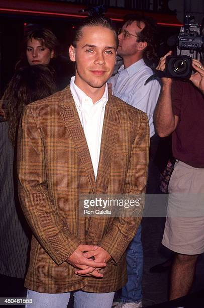 Actor Chad Lowe attends the Bill Ted's Bogus Journey Hollywood Premiere on July 11 1991 at the Mann's Chinese Theatre in Hollywood California
