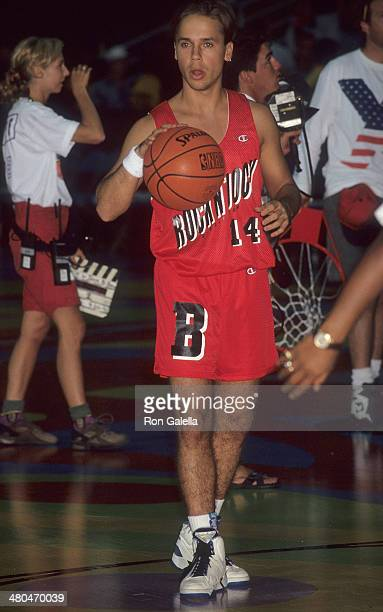 Actor Chad Lowe attends the MTV's Second Annual Rock N' Jock BBall Jam Celebrity Charity Basketball Game on September 20 1992 at the Pauley Pavilion...