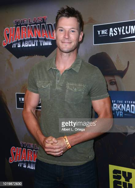 Actor Chad Michael Collins arrives for the Premiere Of The Asylum And Syfy's 'The Last Sharknado It's About Time' held at Cinemark Playa Vista on...