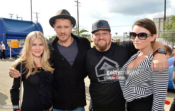 Actor Chad Michael Murray and actor Stephen Kramer Glickman and guests attend the Bogart Pediatric Cancer Research Program's A Day Of Champions...