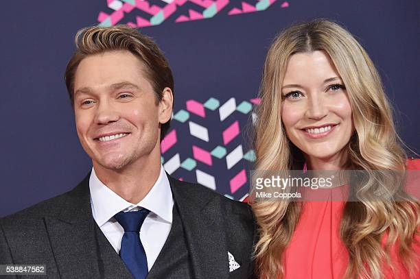 Actor Chad Michael Murray and actress Sarah Roemer attends the 2016 CMT Music awards at the Bridgestone Arena on June 8 2016 in Nashville Tennessee
