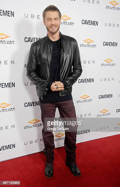 Actor Chad Michael Murray arrives at the Los Angeles premiere of 'Cavemen' at ArcLight Hollywood on February 5 2014 in Hollywood California