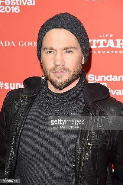 Actor Chad Michael Murray attends the 'Outlaws Angels' Premiere during the 2016 Sundance Film Festival at Library Center Theater on January 25 2016...