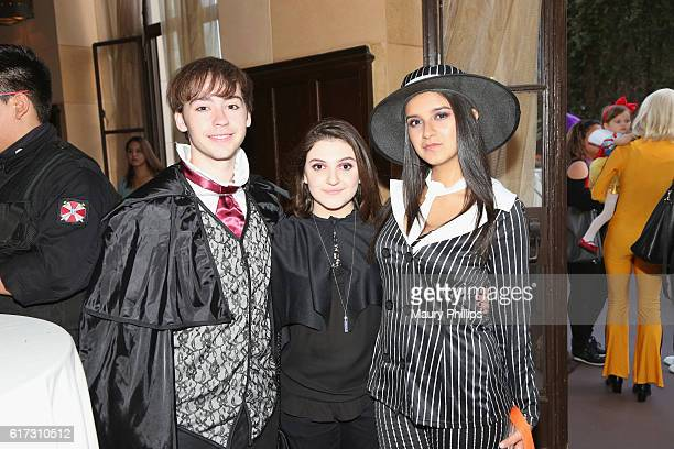 Actor Chad Roberts and actress Amber Romero attend Starlight's Dream Halloween 2016 on October 22 2016 in Los Angeles California