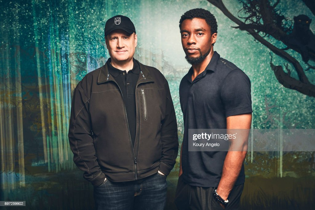 Chadwick Boseman and Kevin Feige, The Hollywood Reporter, July 1, 2017