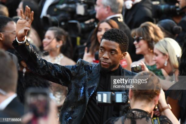 US actor Chadwick Boseman arrives for the 91st Annual Academy Awards at the Dolby Theatre in Hollywood California on February 24 2019