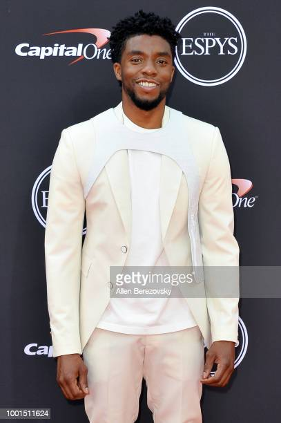Actor Chadwick Boseman attends The 2018 ESPYS at Microsoft Theater on July 18 2018 in Los Angeles California