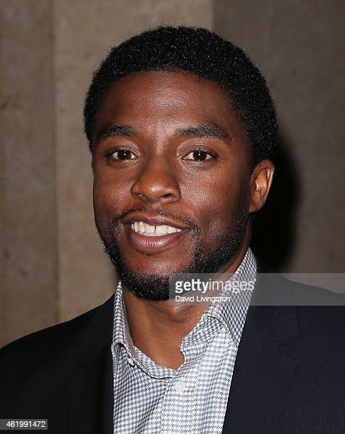 Actor Chadwick Boseman attends the 30th Annual Artios Awards presented by the Casting Society of America at The Beverly Hilton Hotel on January 22...