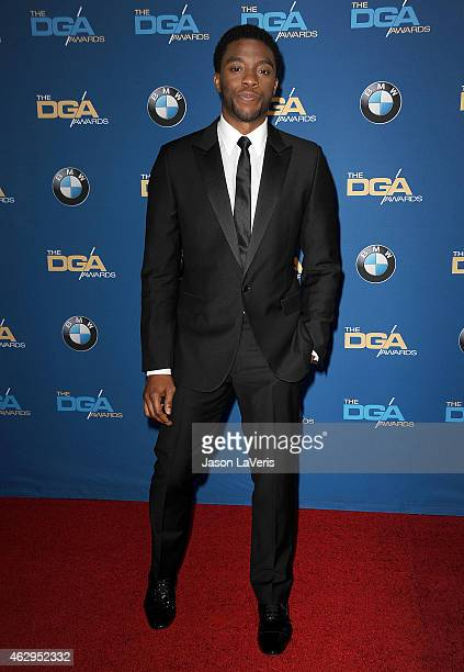 Actor Chadwick Boseman attends the 67th annual Directors Guild of America Awards at the Hyatt Regency Century Plaza on February 7 2015 in Los Angeles...