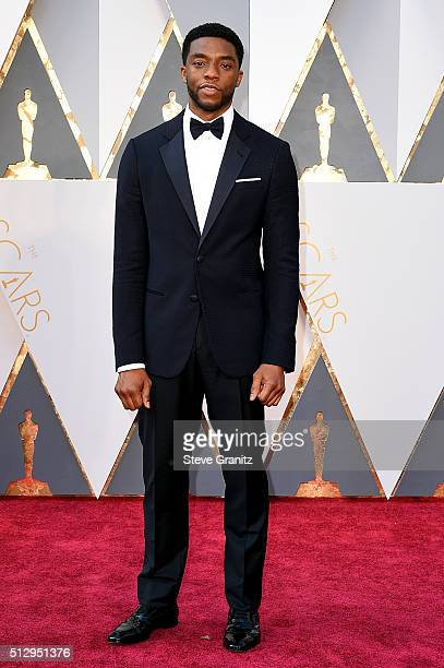 Actor Chadwick Boseman attends the 88th Annual Academy Awards at Hollywood Highland Center on February 28 2016 in Hollywood California