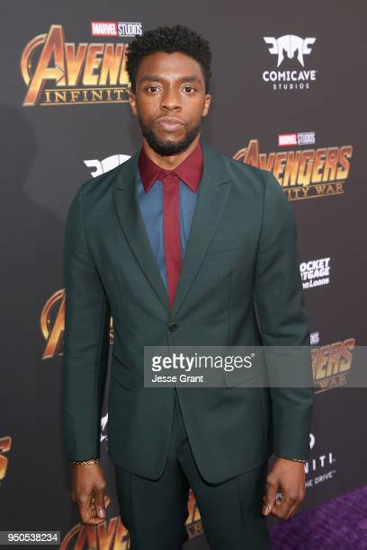Actor Chadwick Boseman attends the Los Angeles Global Premiere for Marvel Studios' Avengers Infinity War on April 23 2018 in Hollywood California