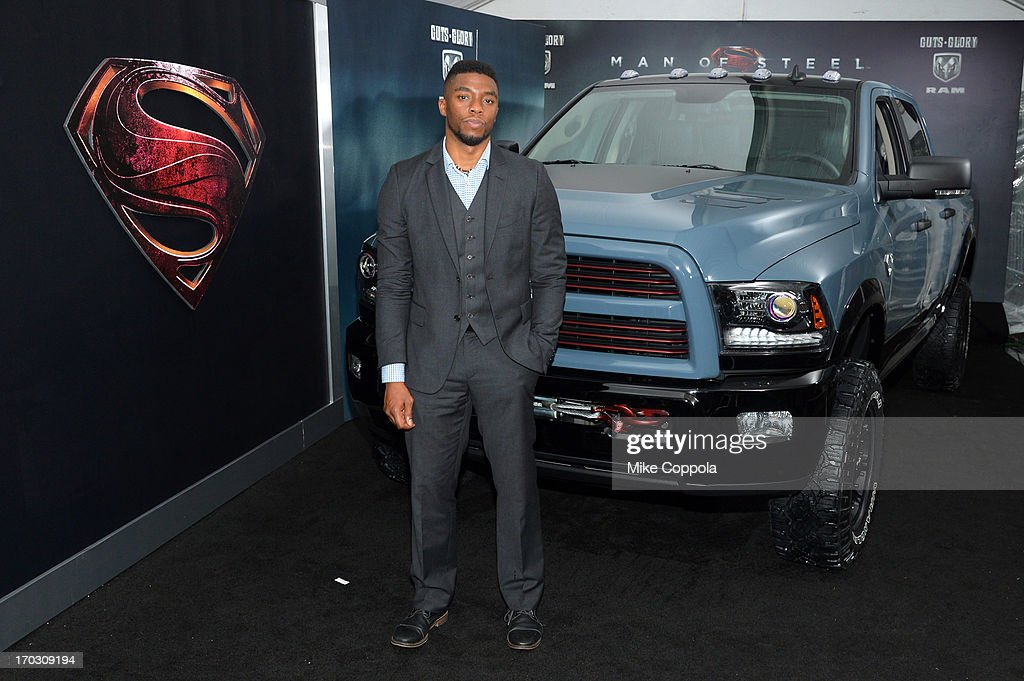 Actor Chadwick Boseman attends the 'Man of Steel' NYC premiere sponsored by RAM at Alice Tully Hall at Lincoln Center on June 10, 2013 in New York City.