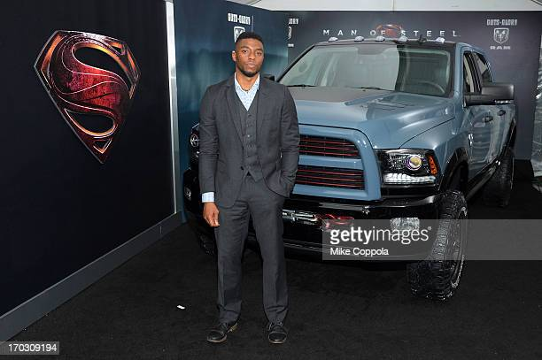 Actor Chadwick Boseman attends the Man of Steel NYC premiere sponsored by RAM at Alice Tully Hall at Lincoln Center on June 10 2013 in New York City