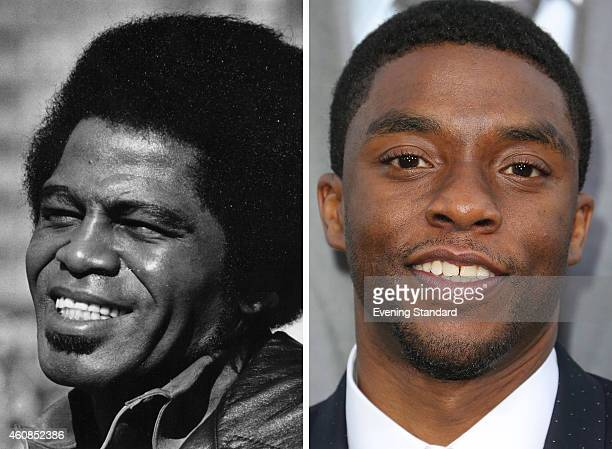 In this composite image a comparison has been made between James Brown and actor Chadwick Boseman Actor Chadwick Boseman will reportedly play singer...