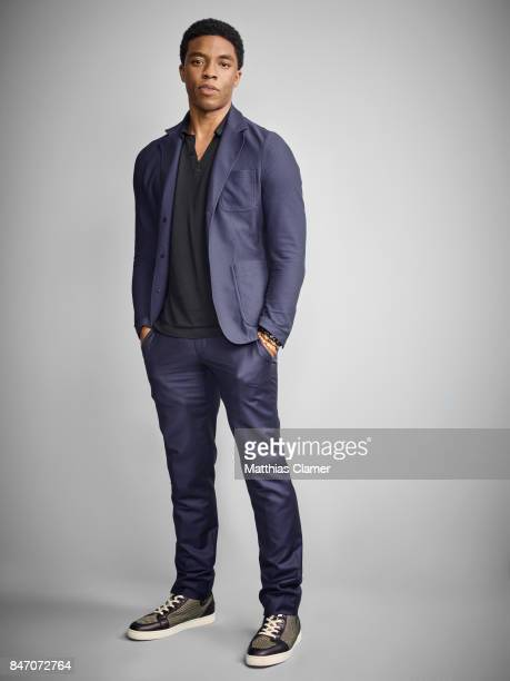 Actor Chadwick Boseman from 'Black Panther' is photographed for Entertainment Weekly Magazine on July 23 2016 at Comic Con in the Hard Rock Hotel in...