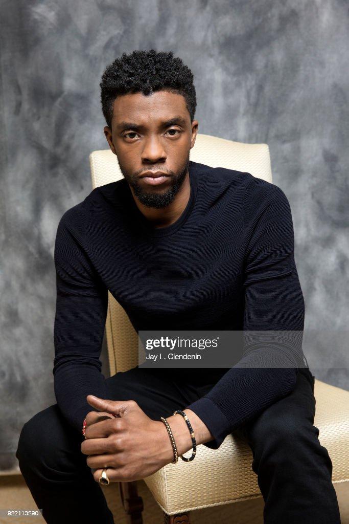 Chadwick Boseman, Los Angeles Times, February 11, 2018 : News Photo