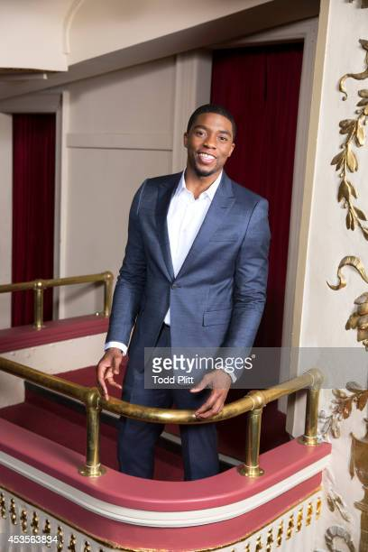 Actor Chadwick Boseman is photographed for USA Today on July 19 2014 in New York City PUBLISHED IMAGE