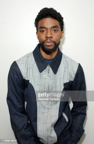 Actor Chadwick Boseman is seen on Despierta America at Univision Studios to promote the film 21 Bridges on November 22 2019 in Miami Florida