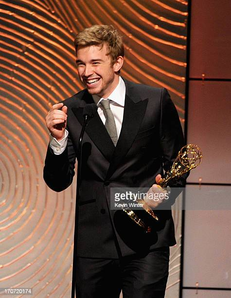 Actor Chandler Massey accepts the Outstanding Younger Actor in a Drama Series award for 'Days of Our Lives' onstage during The 40th Annual Daytime...