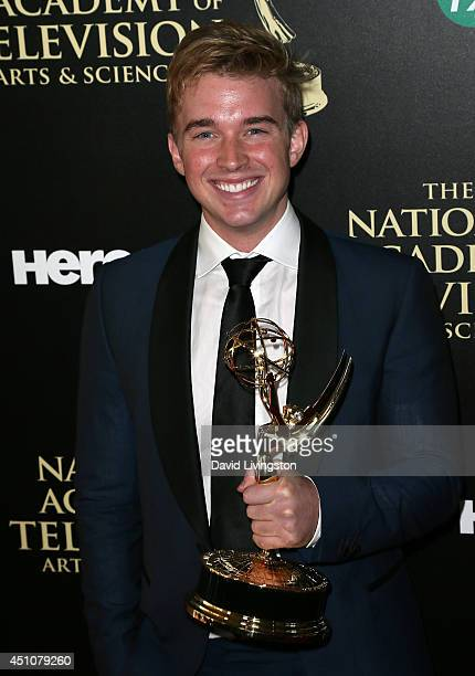 Actor Chandler Massey attends the press room at the 41st Annual Daytime Emmy Awards at The Beverly Hilton Hotel on June 22 2014 in Beverly Hills...