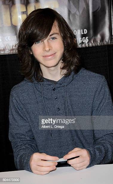 Actor Chandler Riggs on day 3 of Wizard World Comic Con New Orleans held at New Orleans Morial Convention Center on January 10 2016 in New Orleans...