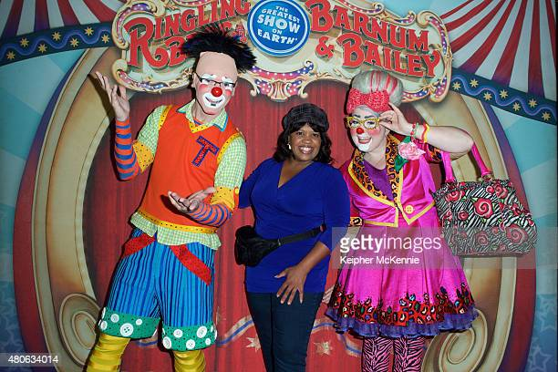 Actor Chandra Wilson and show performers attend Ringling Bros and Barnum Bailey's 'Circus XTREME' VIP celebrity red carpet premiere at Staples Center...