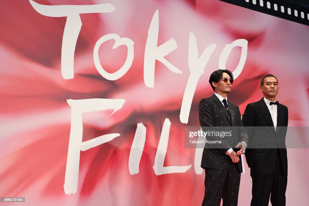 Actor Chang Chen and Director SABU attend the red carpet of the 30th Tokyo International Film Festival at Roppongi Hills on October 25, 2017 in Tokyo, Japan.