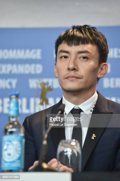 Actor Chang Chen attends the 'Mr Long' press conference during the 67th Berlinale International Film Festival Berlin at Grand Hyatt Hotel on February...
