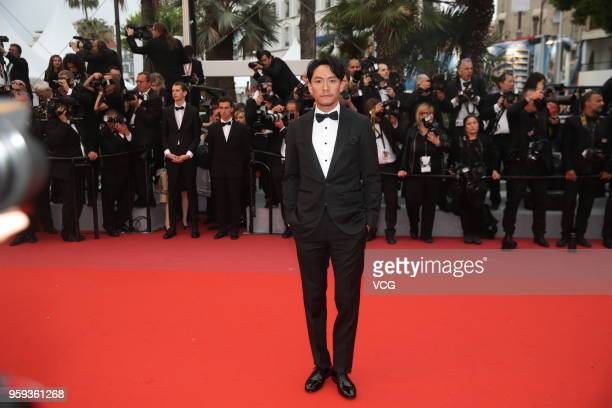 Actor Chang Chen attends the screening of 'Burning' during the 71st annual Cannes Film Festival at Palais des Festivals on May 16 2018 in Cannes...