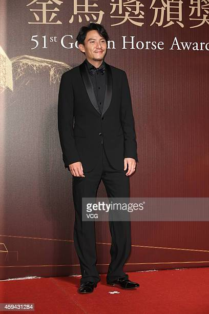 Actor Chang Chen walks on the red carpet of the 51st Golden Horse Awards at Sun Yatsen Memorial Hall on November 22 2014 in Taipei Taiwan of China