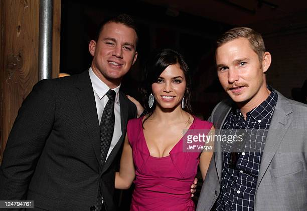 Actor Channing Tatum Actress Jenna DewanTatum and Actor Brian Geraghty attend the 'Ten Year' dinner hosted by GREY GOOSE Vodka at Soho House Pop Up...