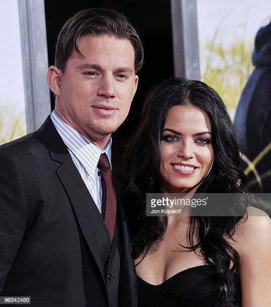 Actor Channing Tatum and actress Jenna Dewan arrive at the Los Angeles Premiere Dear John at Grauman's Chinese Theatre on February 1 2010 in...
