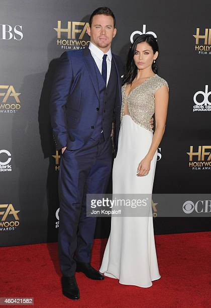 Actor Channing Tatum and actress Jenna Dewan Tatum arrive at the 18th Annual Hollywood Film Awards at Hollywood Palladium on November 14 2014 in...